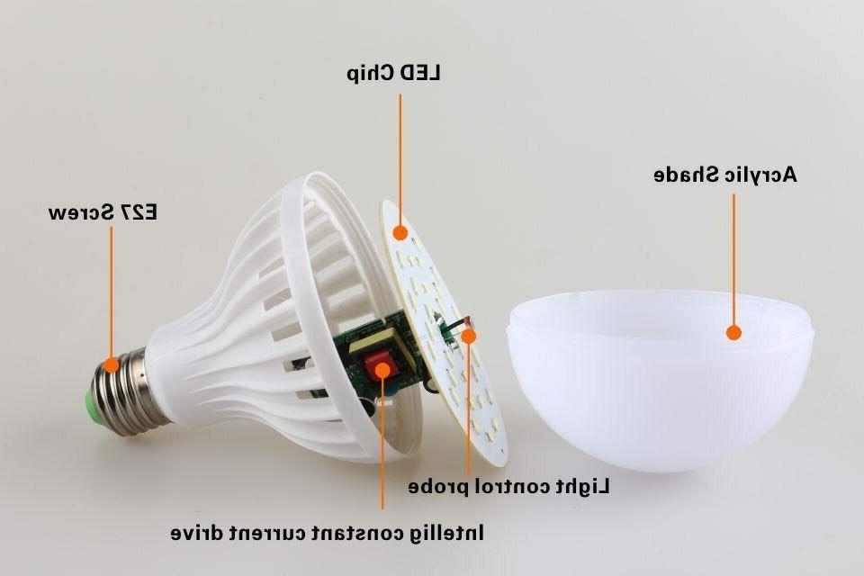 E27 5W Dusk Dawn Auto Sensor Light Bulb LED Garden