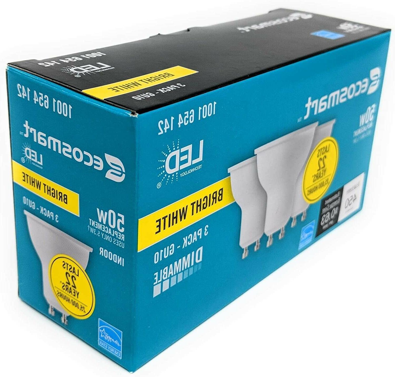 EcoSmart 50W Dimmable Light Bulb GU10 FREE SHIPPING