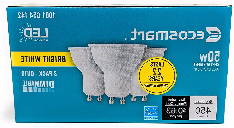 ecosmart 50w led dimmable light bulb gu10