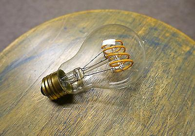 LED Edison Bulb A19, Curved Vintage Spiral Loop Filament, 4w