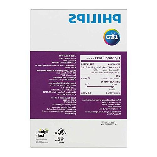Philips New 60-Watt Equivalent Soft - Pack