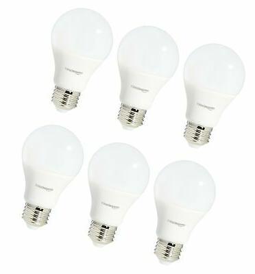 AmazonBasics 60 Soft White, LED Light 6-Pack