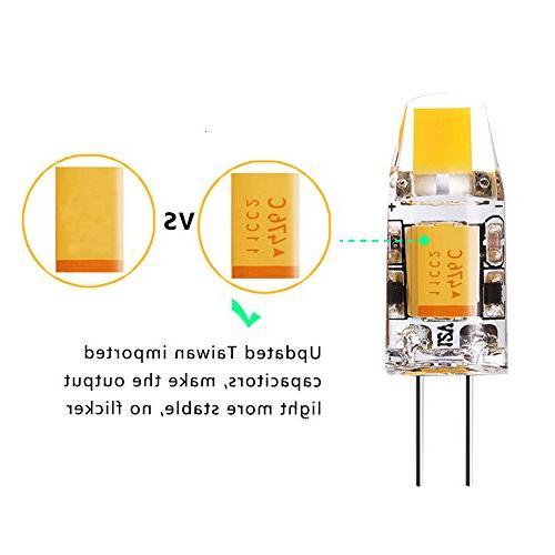 Yuiip G4 2700K Warm White Bulb, Halogen for RV 10 Pack