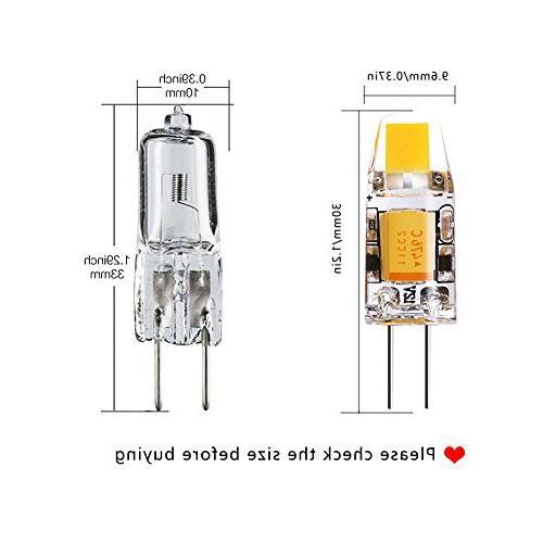Yuiip Led G4 Bulb Bi-Pin 2700K White Bulb, Dustproof 12v Halogen for RV