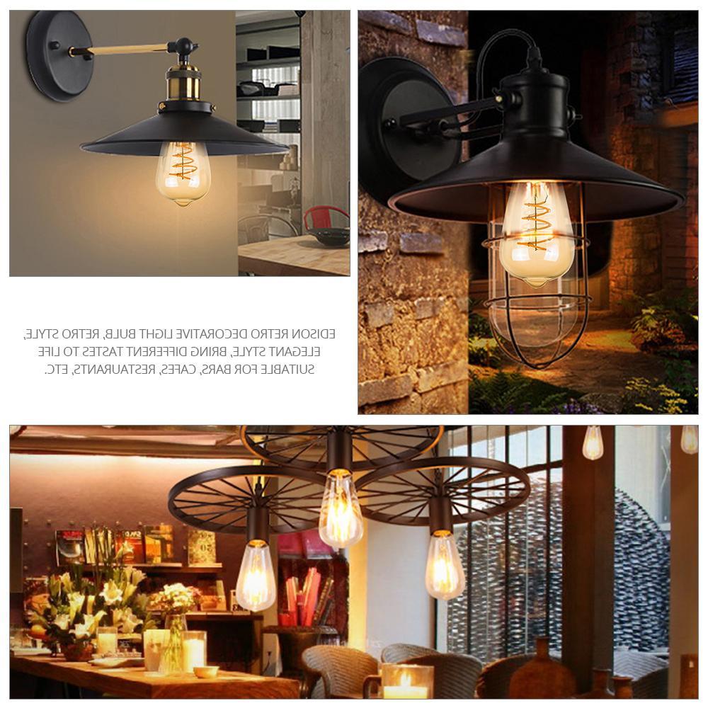 KARWEN <font><b>Bulb</b></font> 3D Edison lamp E27 T10 T45 G80 Replace Incandescent <font><b>Bulb</b></font>