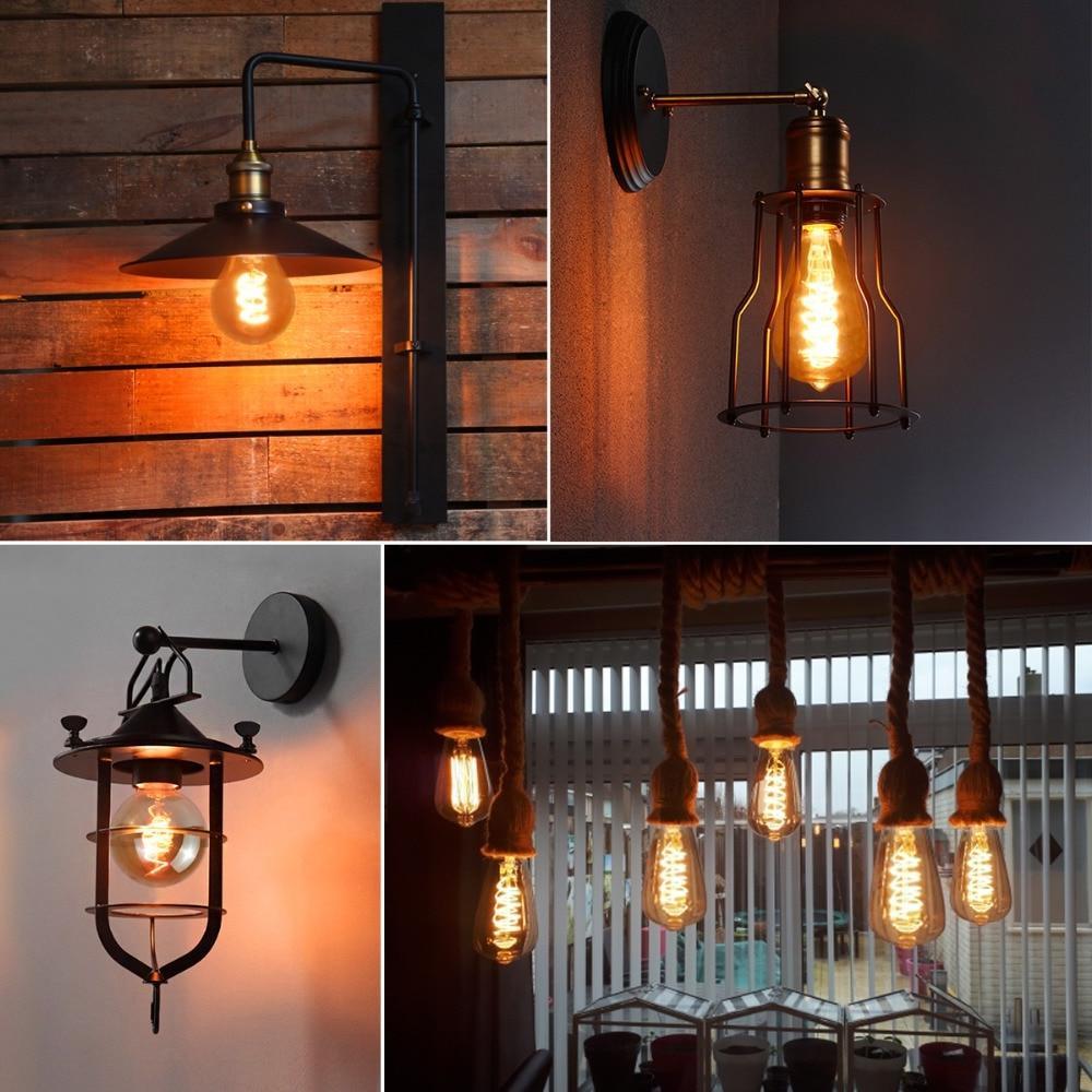 KARWEN <font><b>LED</b></font> Edison <font><b>Bulb</b></font> 3D Edison T10 T45 ST64 G80 <font><b>Bulb</b></font>