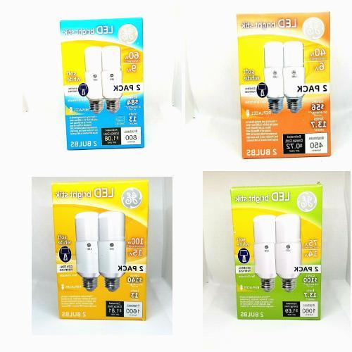 ge led bright stick soft white bulb