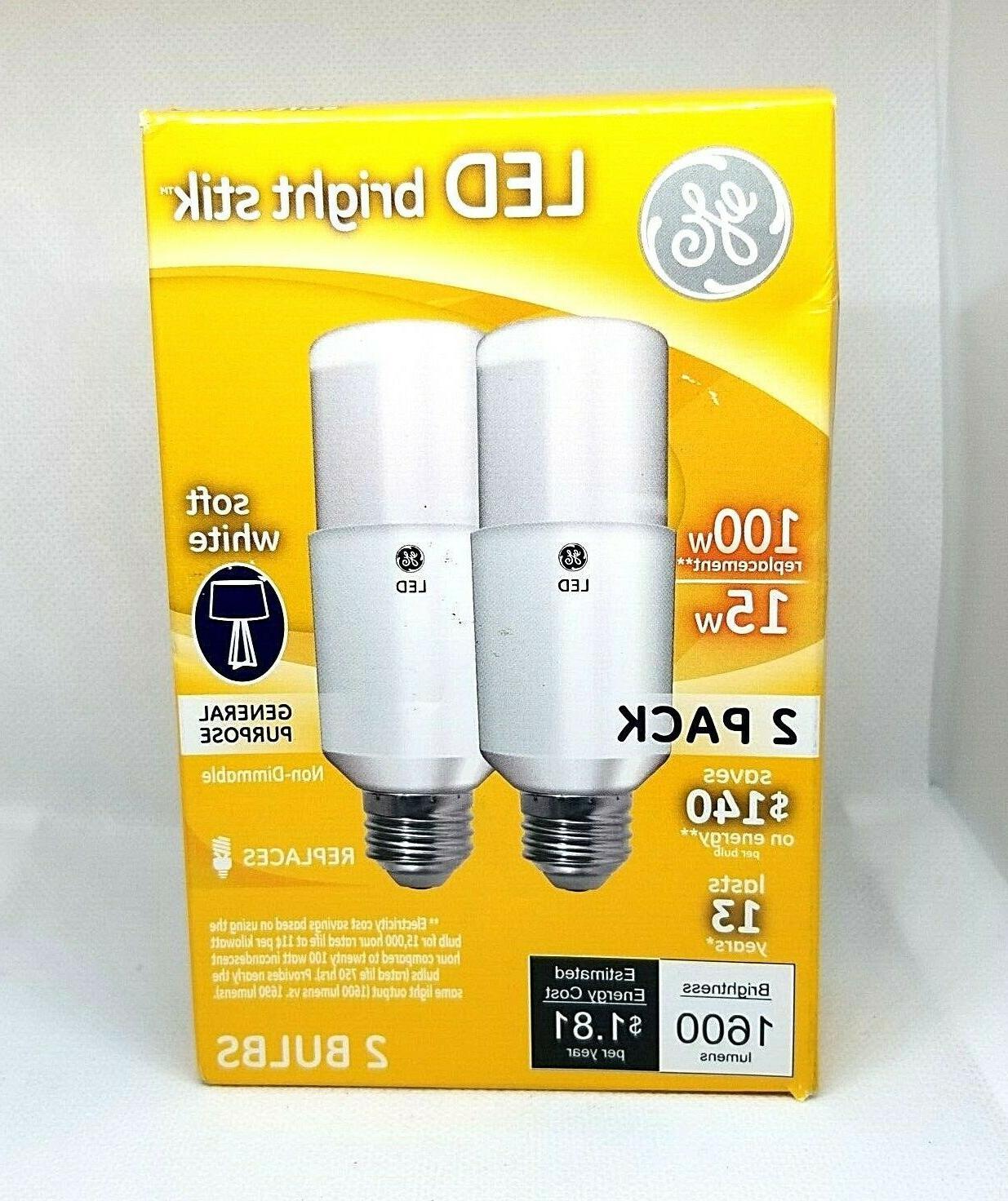 GE Bright Soft White Bulb Non Dimmable 40W/6W 60W/9W