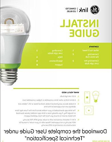 GE Link Light Bulb, A19 Soft White Equivalent, 1-Pack, Zigbee, Works with Alexa