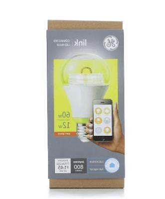 GE Link Smart LED Light Bulb, A19 Soft White , 60-Watt Equiv