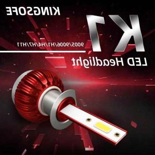 2x Mini H1 COB LED Headlight Bulb High Low Beams White Lamp
