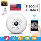 HD 1080P Wireless Fisheye Security Hidden Camera LED Light B