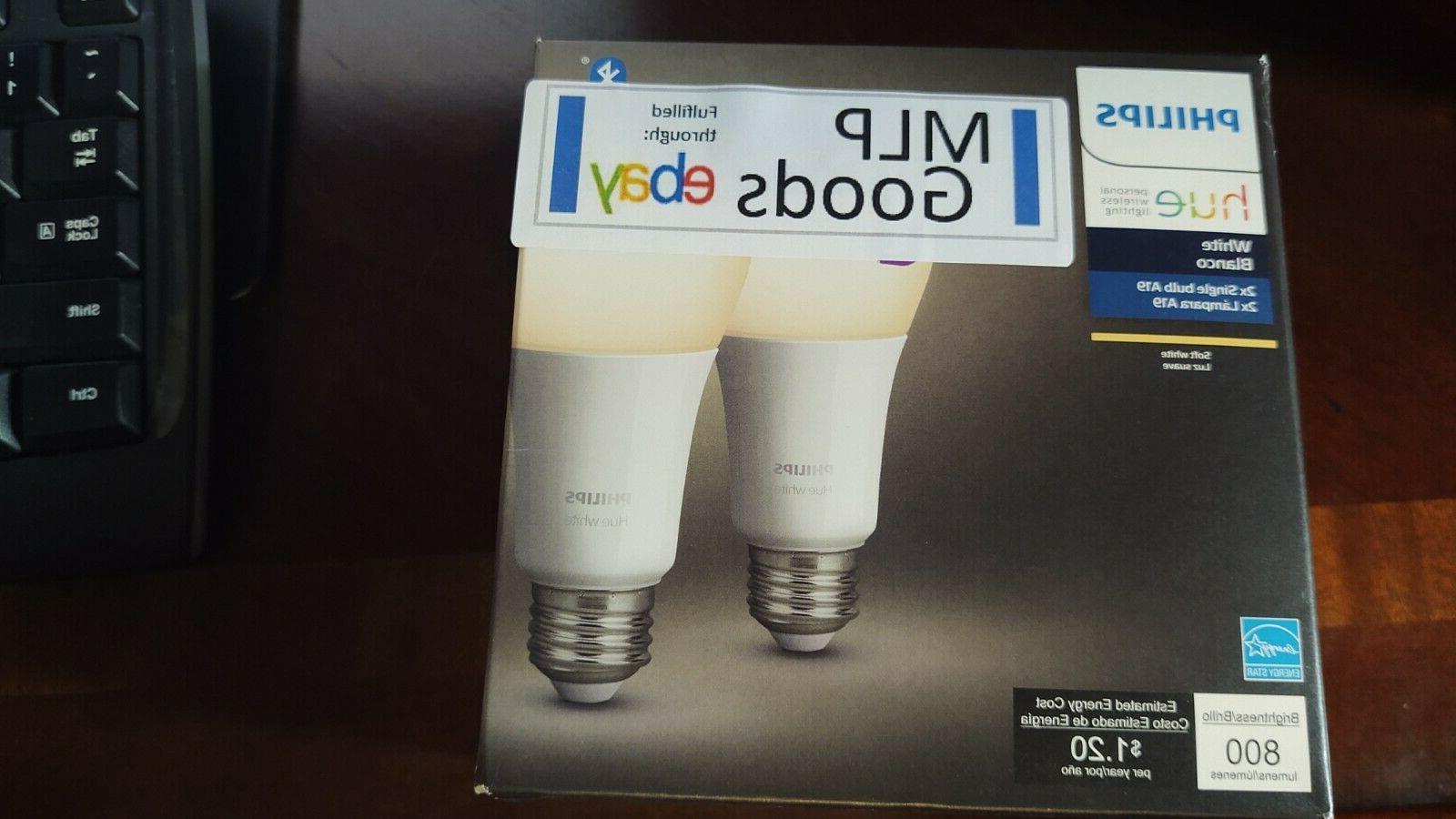 hue white 2 pack a19 led smart