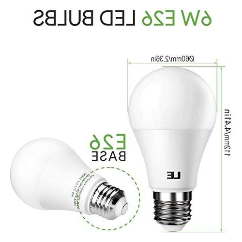 LE A19 E26 Light Incandescent Equivalent, RGBW, Dimmable, 6W 4 Color Changing with Remote Room,