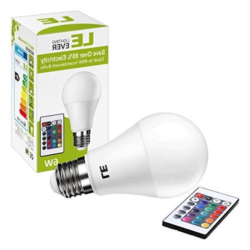 LE E26 Light Incandescent 6W 4 Modes Color with Control, Room, Bedroom More