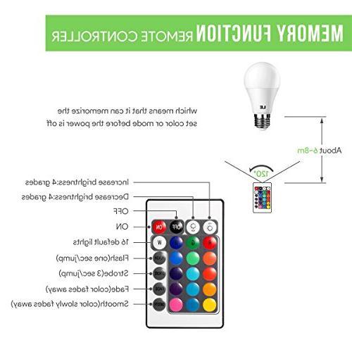 LE E26 Light 40 Watt Incandescent Equivalent, RGBW, Color Control, Home, Room, Bedroom and More