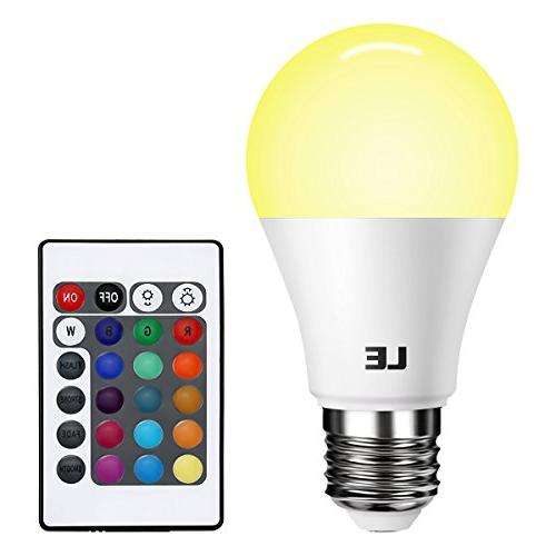 le dimmable a19 e26 rgb