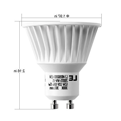 LE 10 GU10 50W 6.5W MR16 360lm, 25° Beam Warm White, 3000K, Recessed Light, Spotlight