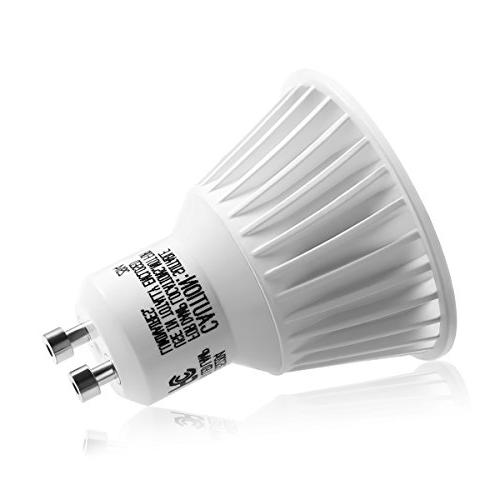 LE 10 Pack Dimmable GU10 50W Halogen Equivalent, 6.5W MR16 UL 360lm, 25° Beam Warm White, 3000K, Recessed Light, Lighting,