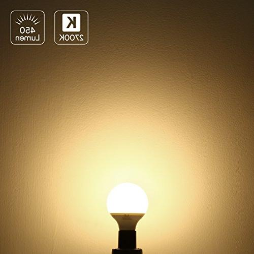 LE G25 LED Bulbs, Bulb Equivalent, 5W 450 2700K Soft E26 Medium Vanity Mirror Pack of