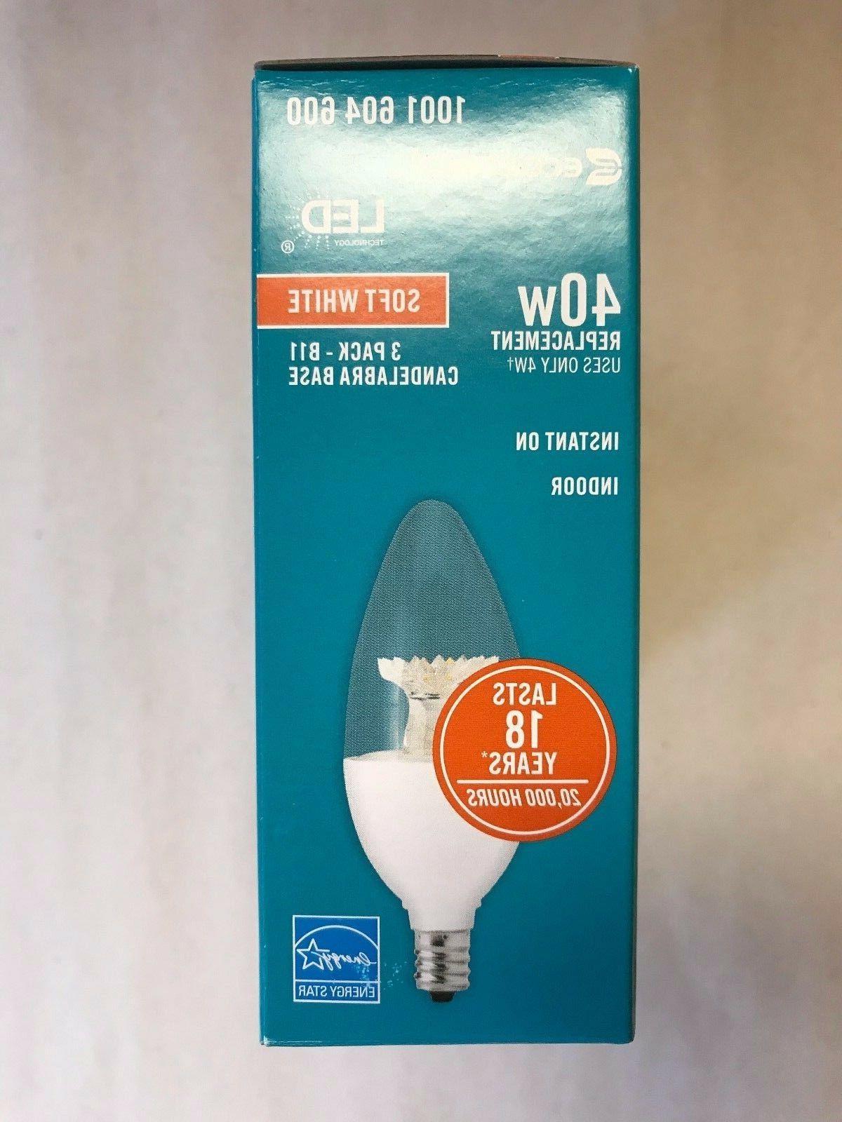 Ecosmart LED = 4W Soft DIMMABLE Watt B11