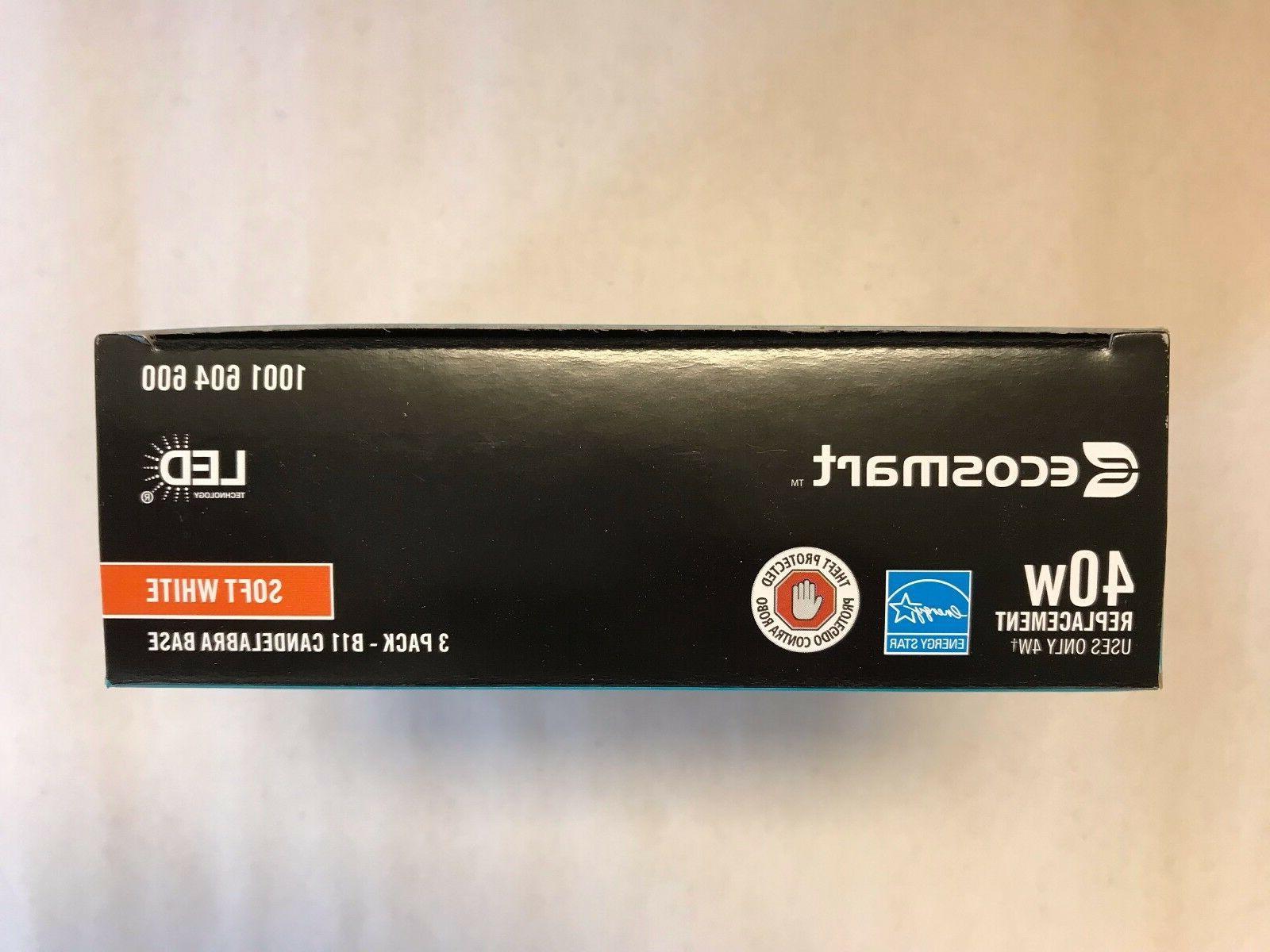 Ecosmart LED 4W Soft White DIMMABLE 40 Watt B11