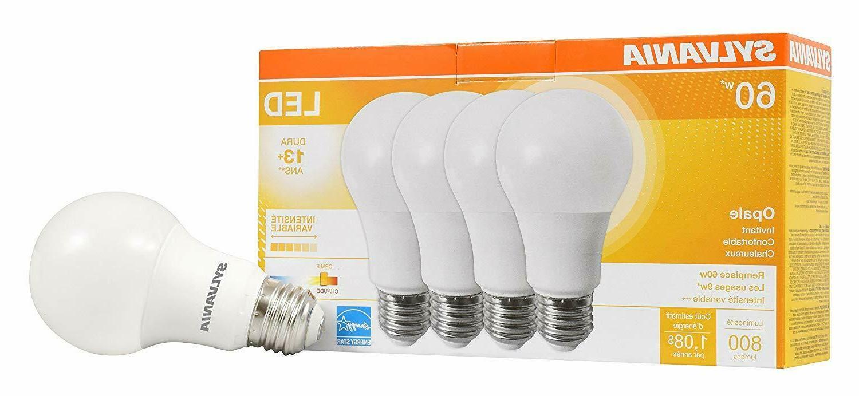 led 60w light bulbs 4 pack soft