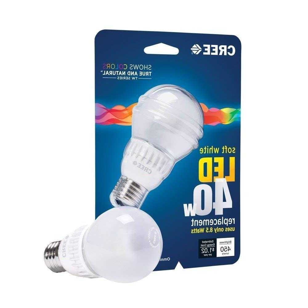 CREE LED 6W = 40W Soft White 2700K A19 Dimmable LED Lamp Lig