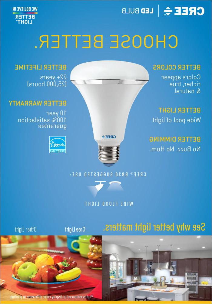 CREE LED Bulb BR30 Flood 9W Soft White 2700k Dimmable Flood