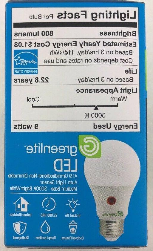 Greenlite Bulb Dusk to Dawn indoor/outdoor ON Off Light