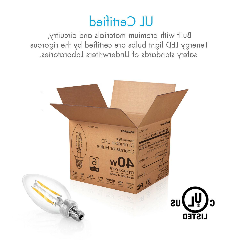 Tenergy Dimmable Bulbs White E12 Bulb