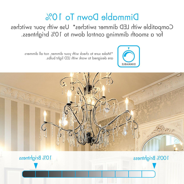 Tenergy Dimmable Candelabra Bulbs 4W Soft E12 Candle Bulb