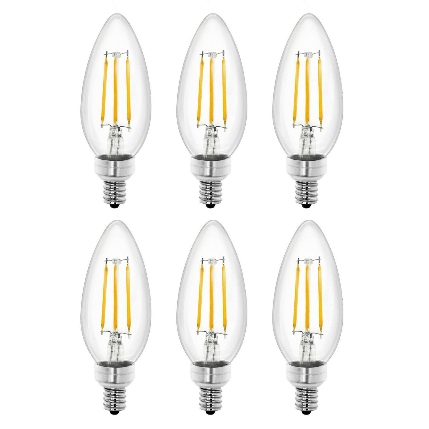 led dimmable candelabra bulbs 4w soft white