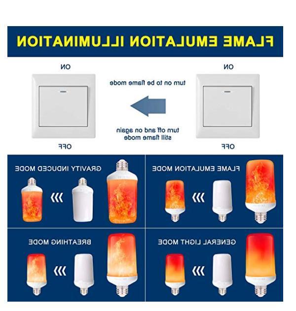 LED Bulb 2Pack 4 Flame Gravity