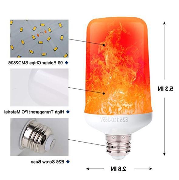 LED Flame Bulb 2Pack Gravity Sensor