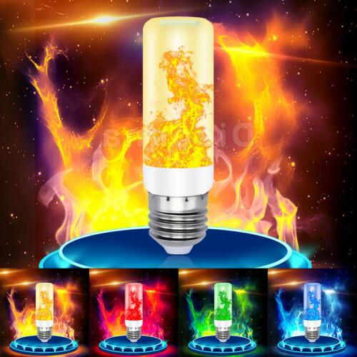 LED Flicker Flame Bulb Fire Effect Decor