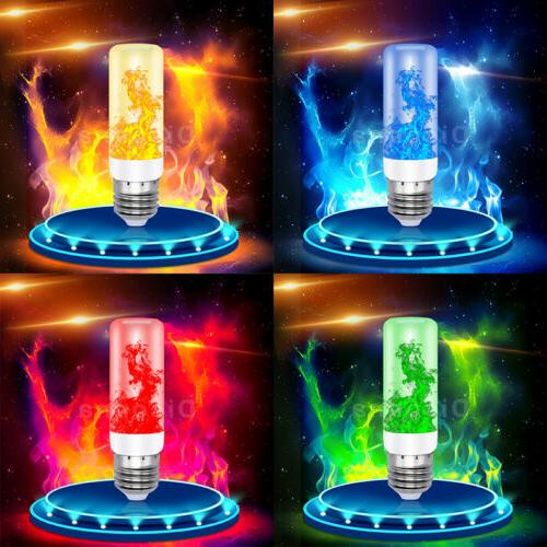 LED Flicker Flame Light Bulb E27 Simulated Burn Fire Effect