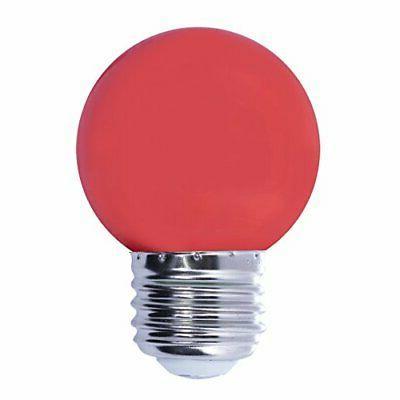 Bulbrite LED/G14R 1-Watt LED G14 Globe, Medium Base, Red Bul