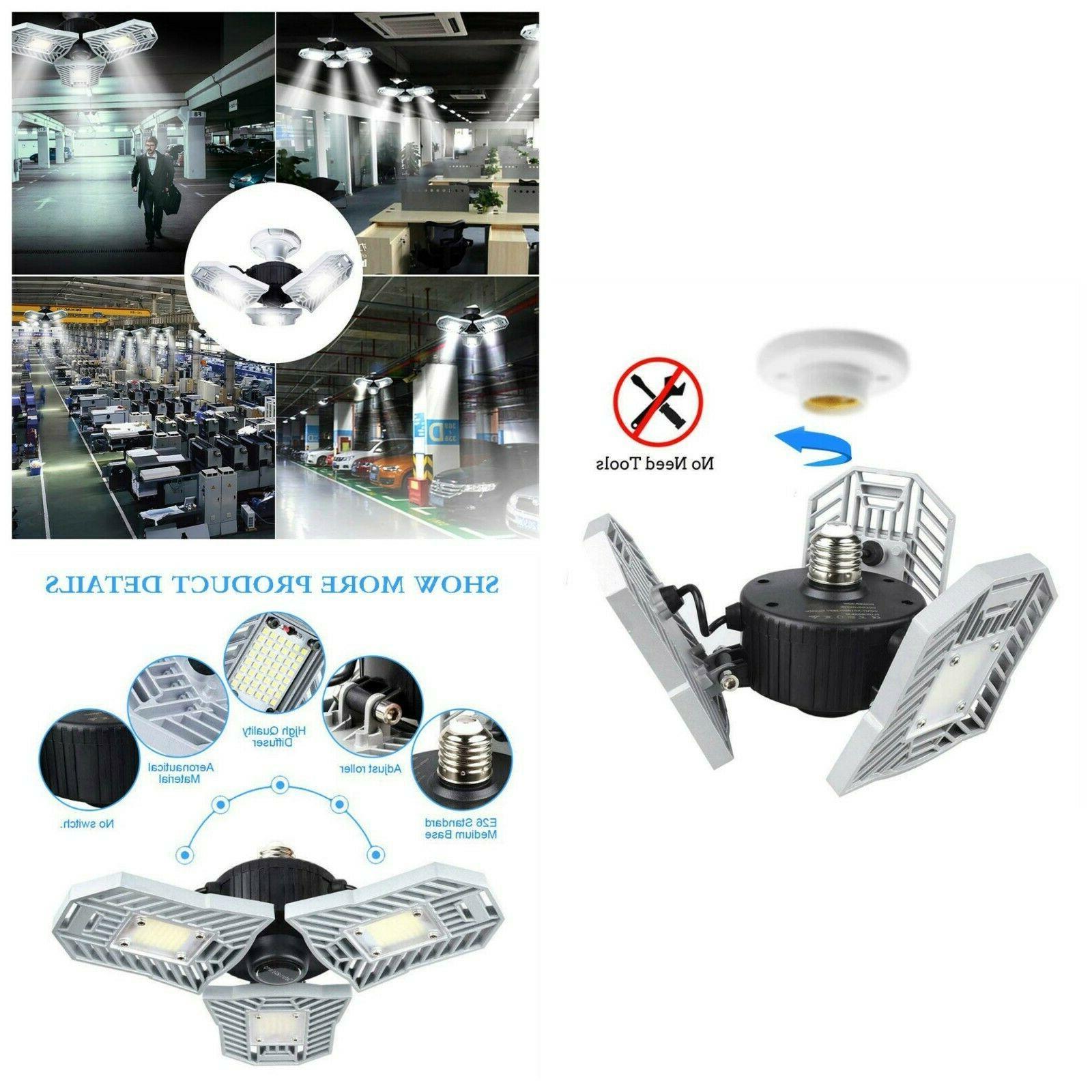 Led Garage Ceiling Light 6000LM 60W Bulb Lights Tools Home I