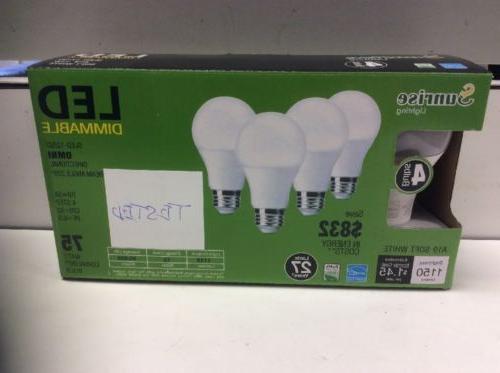 led light bulb 4 12w 75w led