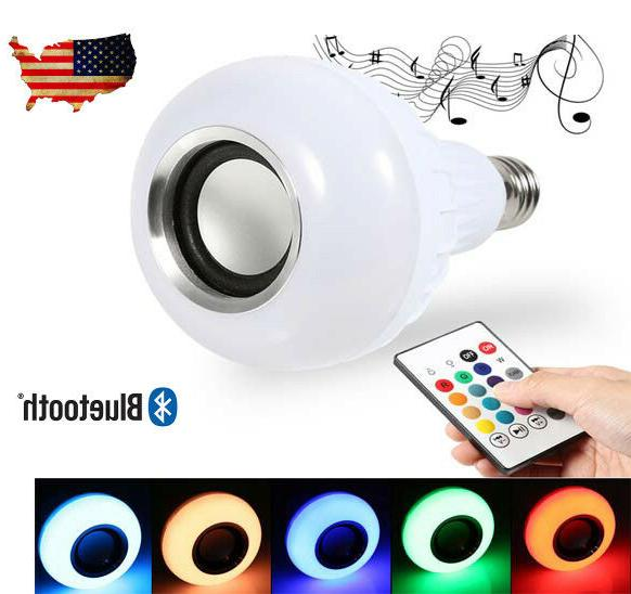 LED Music Bulb Bluetooth Control Music Light E27 Iphone Andr