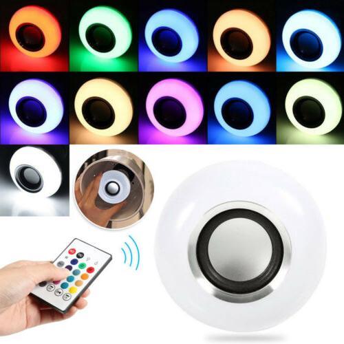 LED Wireless Bluetooth Light Speaker 12W RGB Smart