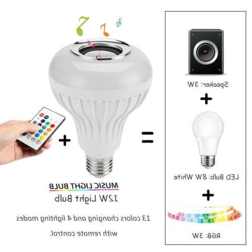 LED Bluetooth Light Speaker Smart Music Lamp +