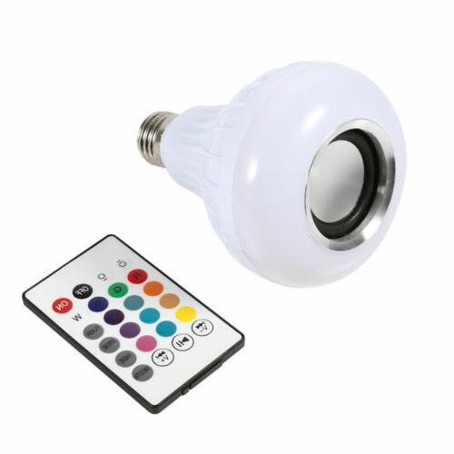 LED Wireless Bluetooth Light Speaker 12W RGB Smart Play + Remote