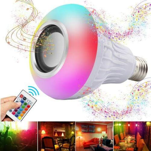 LED Wireless Light E27 Smart Music Play + Remote