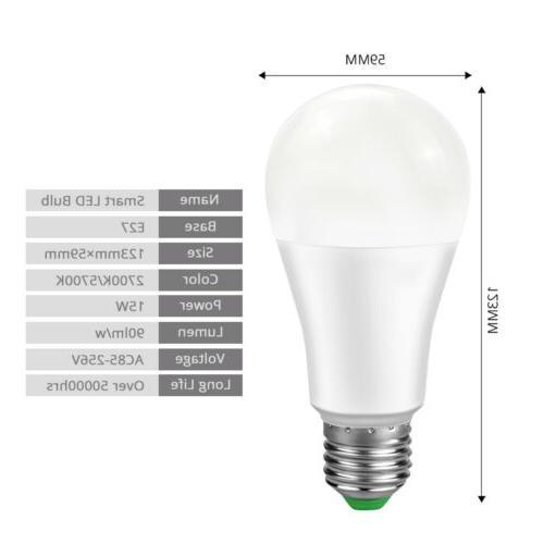 LED Wireless WIFI Bulb Light For Amazon Alexa Home