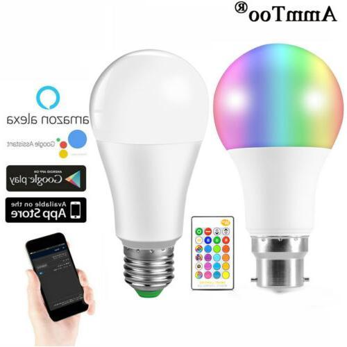 led wireless wifi smart bulb light dimmable