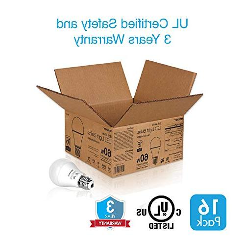 Tenergy LED 9 watts E26 Medium 5000K Daylight Saving Light Bulbs Office/Home