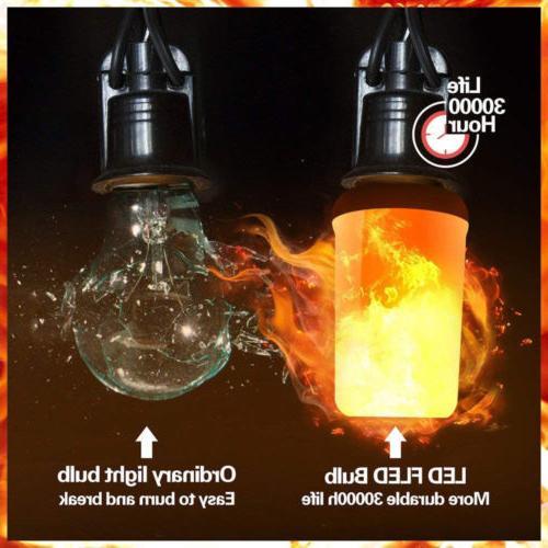 Lot LED Flame Light Burn Fire Party Decor