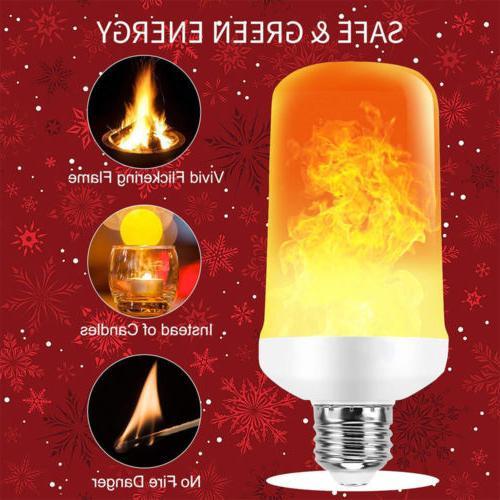 Lot E27 LED Flicker Flame Light Burn Decor USA